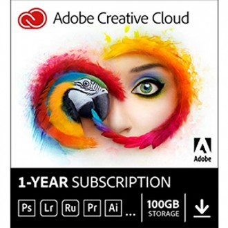 Adobe Creative Cloud All App license 12 month Multi Asian  Languages Team License level 1-9