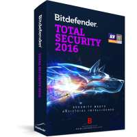 Bitdefender Total Security 2016 - 3 хэрэглэгч / 1 жил