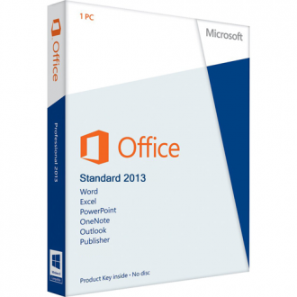 Microsoft Office 2013 Standard - 1 pc lifetime OEM license 32 and 64 Bit