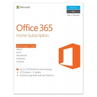Microsoft Office 365 Home - 5 PC/Mac/Tablet - 1 жил + 1TB OneDrive