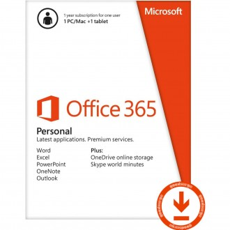 Microsoft Office 365 - 1 PC/Mac/Tablet - 1жил + 1TB One Drive